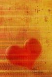 Het hart van Grunge Stock Foto