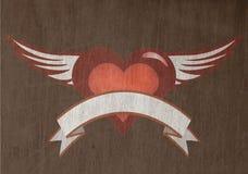 Het hart van Grunge Stock Illustratie