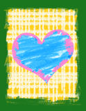 Het hart van Grunge op een grungeachtergrond. Stock Foto's