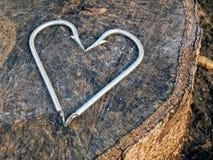 Het hart van haken Royalty-vrije Stock Afbeeldingen