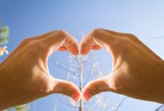 Het hart van handen Royalty-vrije Stock Foto