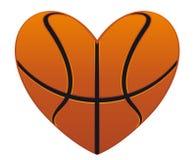 Het hart van het basketbal stock illustratie