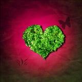 Het hart van het blad stock illustratie