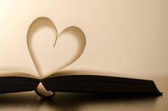 Het hart van het boek Stock Afbeelding