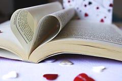 Het hart van het boek Stock Foto