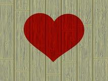 Het hart van het de dagconcept van de valentijnskaart op hout. EPS 8 Stock Afbeeldingen