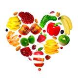 Het hart van het fruit Stock Afbeeldingen