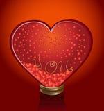 Het hart van het glas Royalty-vrije Stock Afbeelding