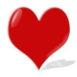 Het hart van het glas Royalty-vrije Stock Foto