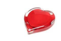 Het hart van het glas royalty-vrije stock foto's