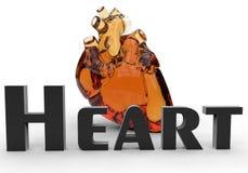 Het hart van het glas royalty-vrije illustratie
