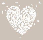 Het hart van het huwelijk Stock Foto