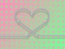 Het hart van het metaal. Royalty-vrije Stock Afbeeldingen