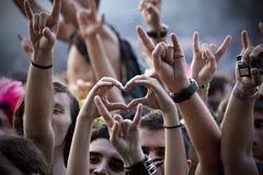 Het hart van het metaal Stock Foto
