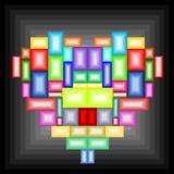 Het hart van het mozaïek Royalty-vrije Stock Afbeeldingen