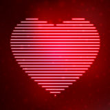 Het hart van het neonpictogram stock illustratie