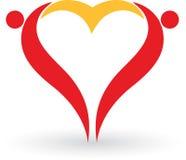 Het hart van het paar Royalty-vrije Stock Afbeeldingen