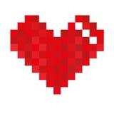 Het hart van het pixel Stock Afbeelding