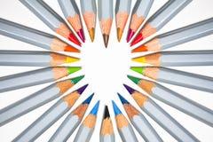 Het hart van het potlood stock afbeeldingen