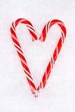 Het hart van het Riet van het suikergoed Royalty-vrije Stock Afbeeldingen