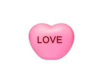 Het hart van het stuk speelgoed op witte achtergrond Stock Afbeelding