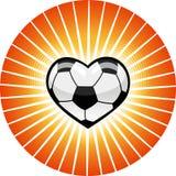 Het hart van het voetbal. Stock Afbeelding