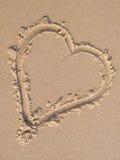 Het hart van het zand royalty-vrije stock afbeeldingen