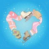 Het hart van Icerink Stock Afbeelding