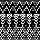 Het hart van Ikat Royalty-vrije Stock Afbeeldingen