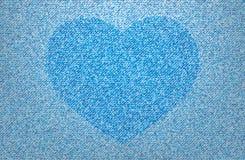 Het hart van jeans Stock Foto's