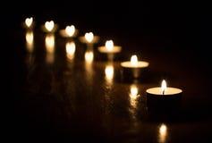 Het hart van kaarsen Royalty-vrije Stock Foto's