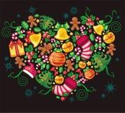 Het Hart van Kerstmis Stock Foto's