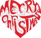Het hart van Kerstmis Stock Fotografie