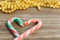 Het hart van het kleurrijke suikergoed Royalty-vrije Stock Afbeelding