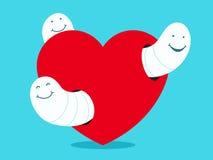 Het hart van maden/van wormen Royalty-vrije Stock Foto's