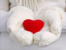 Het hart van mijn Valentijnskaart Stock Foto