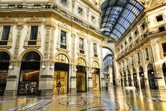 In het hart van Milaan, Italië stock afbeelding