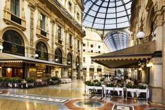 In het hart van Milaan, Italië Stock Afbeeldingen