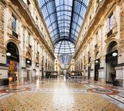 In het hart van Milaan, Italië Stock Foto's