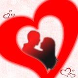 Het hart van minnaars Stock Foto