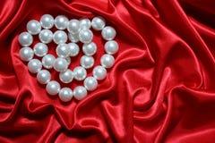 Het hart van parels Stock Foto's