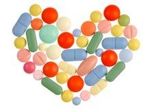 Het Hart van pillen stock afbeelding