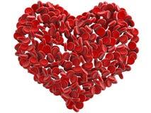 Het hart van rode bloedcellen Stock Foto's