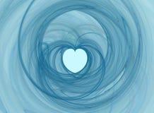 Het hart van Swirly Royalty-vrije Stock Afbeeldingen