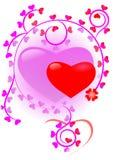 Het hart van valentijnskaarten stock illustratie