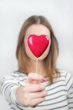 Het hart van valentijnskaarten Stock Afbeelding