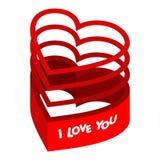 Het hart van valentijnskaarten Royalty-vrije Stock Afbeeldingen