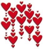 Het hart van valentijnskaarten Stock Afbeeldingen