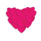 Het hart van valentijnskaarten Stock Fotografie