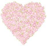Het hart van valentijnskaarten, vector Stock Fotografie